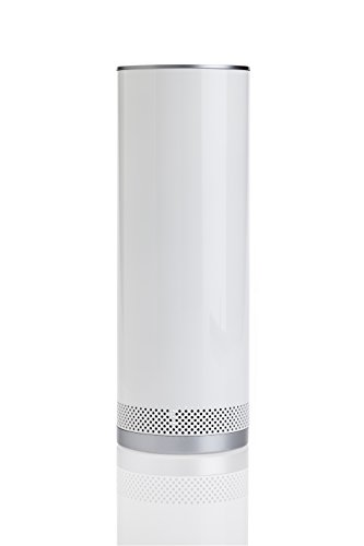 Dwell Studio for Stelle Audio Pillar Bluetooth Speaker - Pewter with Gate Metallic Silver Print