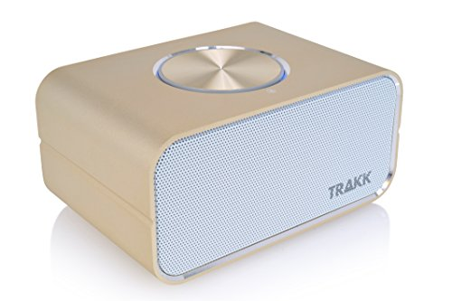 TRAKK CEO TR9S New Model 24 Hours of Playtime Magnificent Universal Wireless Portable Bluetooth Speaker with Power Bank, Gold