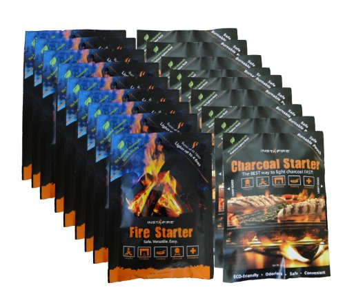 Instafire Charcoal Briquette Firestarter for Grills, 2 Gallon Bucket