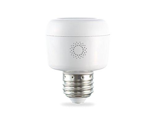 emberlight Socket, Wi-Fi Smart Light Bulb Adapter, White, Works with Amazon Alexa