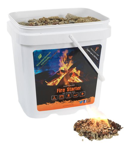 InstaFire Granulated Fire Starter, All Natural, Eco-Friendly, Lights up to 32 Total Fires in Any Weather, Awarded 2017 Fire Starter Of The Year, 8 Pk