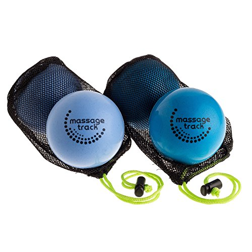 Massage Track Myofascial Release Balls for Mobility, Trigger Point and Physical Therapy, Set of 2 Soft and 2 Very Soft Balls