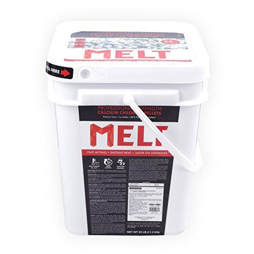 Snow Joe MELT25CC-BKT 25-lb Flip-Top Bucket W/Scoop Professional Strength Calcium Chloride Ice Melt