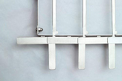 KonExcel SkeweRack - Turns 6 Kabobs Simultaneously, Sturdy Stainless Steel Shish Kabob Skewer & Rack Set (1 Rack + 12 Skewers)