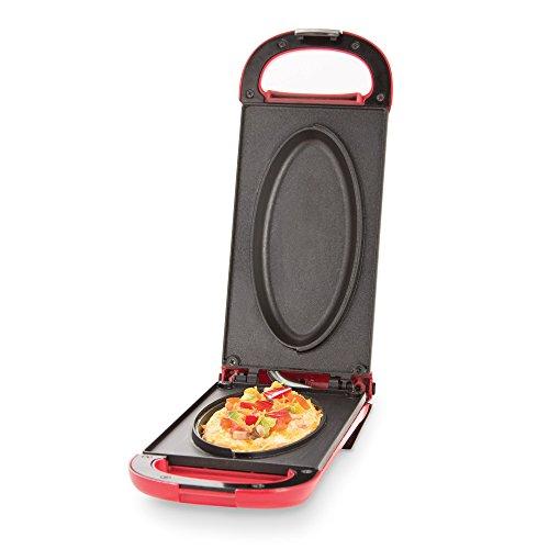 Dash DOM001RD Nonstick Omelette Maker, Red