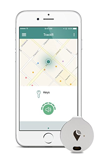 TrackR pixel - Bluetooth Tracking Device. Key Tracker. Phone Finder. Wallet Locator - Aqua