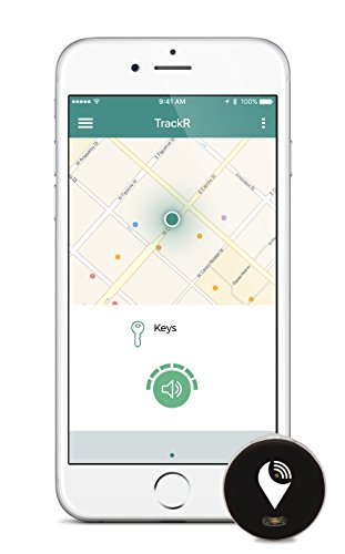 TrackR bravo - Bluetooth Tracking Device. Key Tracker. Phone Finder. Wallet Locator. Generation 3, 1 Pack - Silver