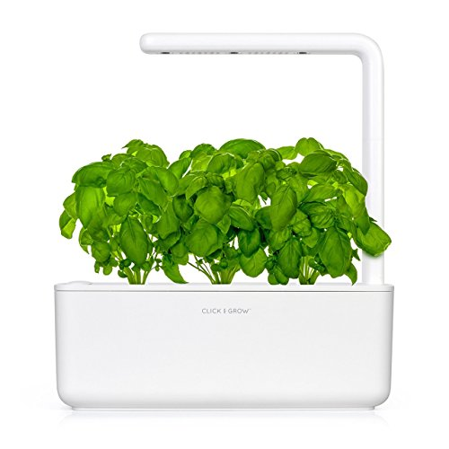 Click & Grow Smart Garden 3 Indoor Gardening Kit (Includes Basil Capsules), White