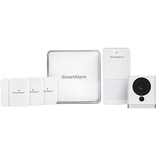 iSmartAlarm Satellite Siren | 110db Adjustable Volume Alexa & IFTTT Compatible | AS3, White