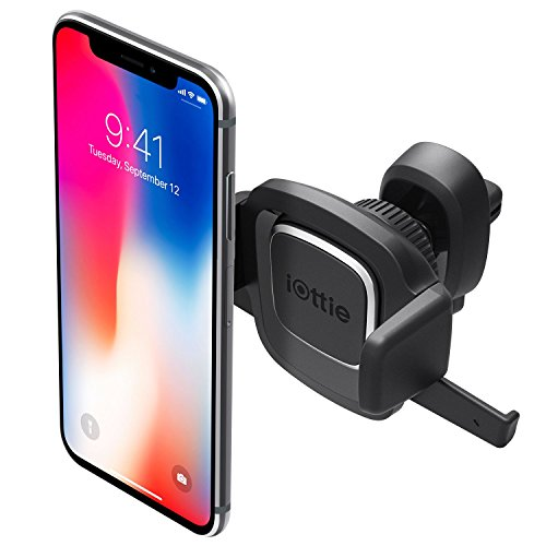 iOttie Easy One Touch Mini Air Vent Car Mount Holder Cradle for iPhone X 8/8 Plus 7 7 Plus 6s Plus 6s 6 SE Samsung Galaxy S9 S9 Plus S8 Plus S8 Edge S7 S6 Note 8 5 Nexus 6
