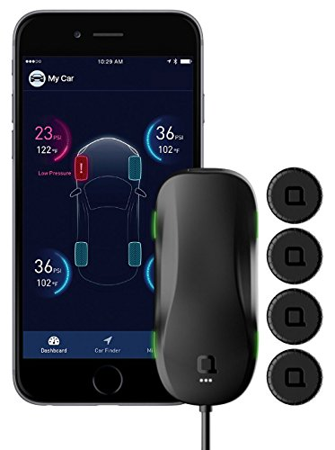 nonda ZUS Smart Tire Safety Monitor, Slow Leak Detection with AccurateTemp Technology, Real-Time Tire Pressure & Temperature Data, 10 Mins Self-Install, TPMS with App