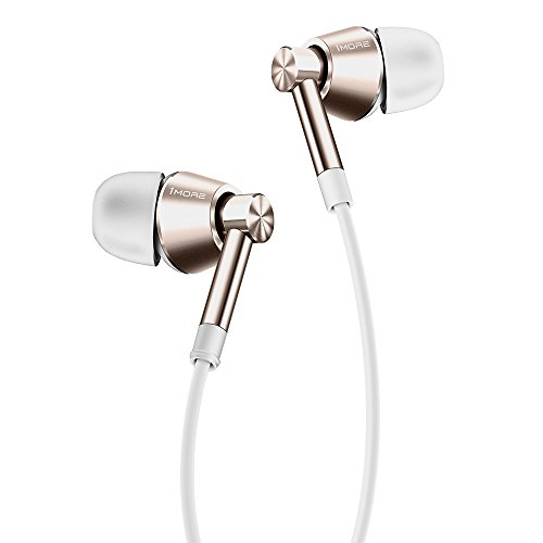 1MORE Piston Classic In-Ear Earphones Lightweight Headphones with Tangle-Free Cable, iPhone Matched Colors, Mic and Dual In-Line Remote for Android/iOS/PC/Tablet - Rose Gold