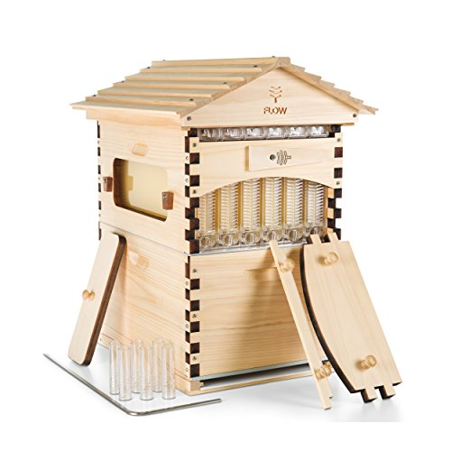 Flow Official Super Classic Cedar 7 Frame - Beehive Super Featuring Patented tech, fits a 10 Frame Langstroth Style hive